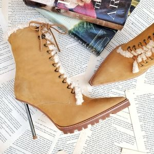 JEFFREY CAMPBELL Truckstop Heeled Lace Up Booties